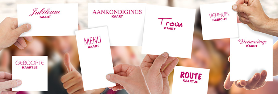 De kaartendrukkerij helpt u met kaarten drukken